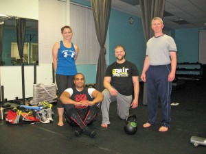 Kettlebell training with friends seven stars fitness