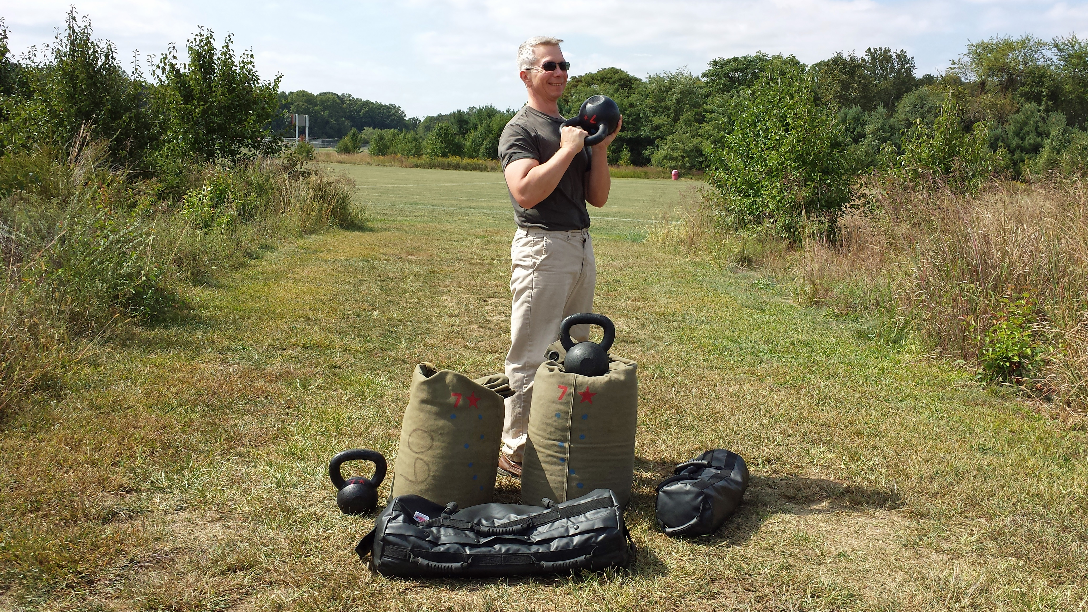 mark mellohusky sandbag and kettlebell carry workout seven stars fitness ultimate sandbag
