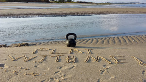 Beach Workout: Kettlebell Swings And Sprints