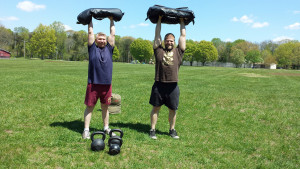 I enjoy training with friends and sandbags also!