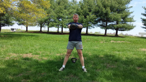 Swings, Crawls And Squats Total Body Kettlebell Workout