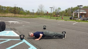 pushups and kettlebell workout