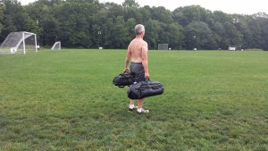 sandbag workout and body weight exercises